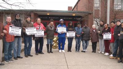 West Louisville residents protest planned closure of JCPS elementary school