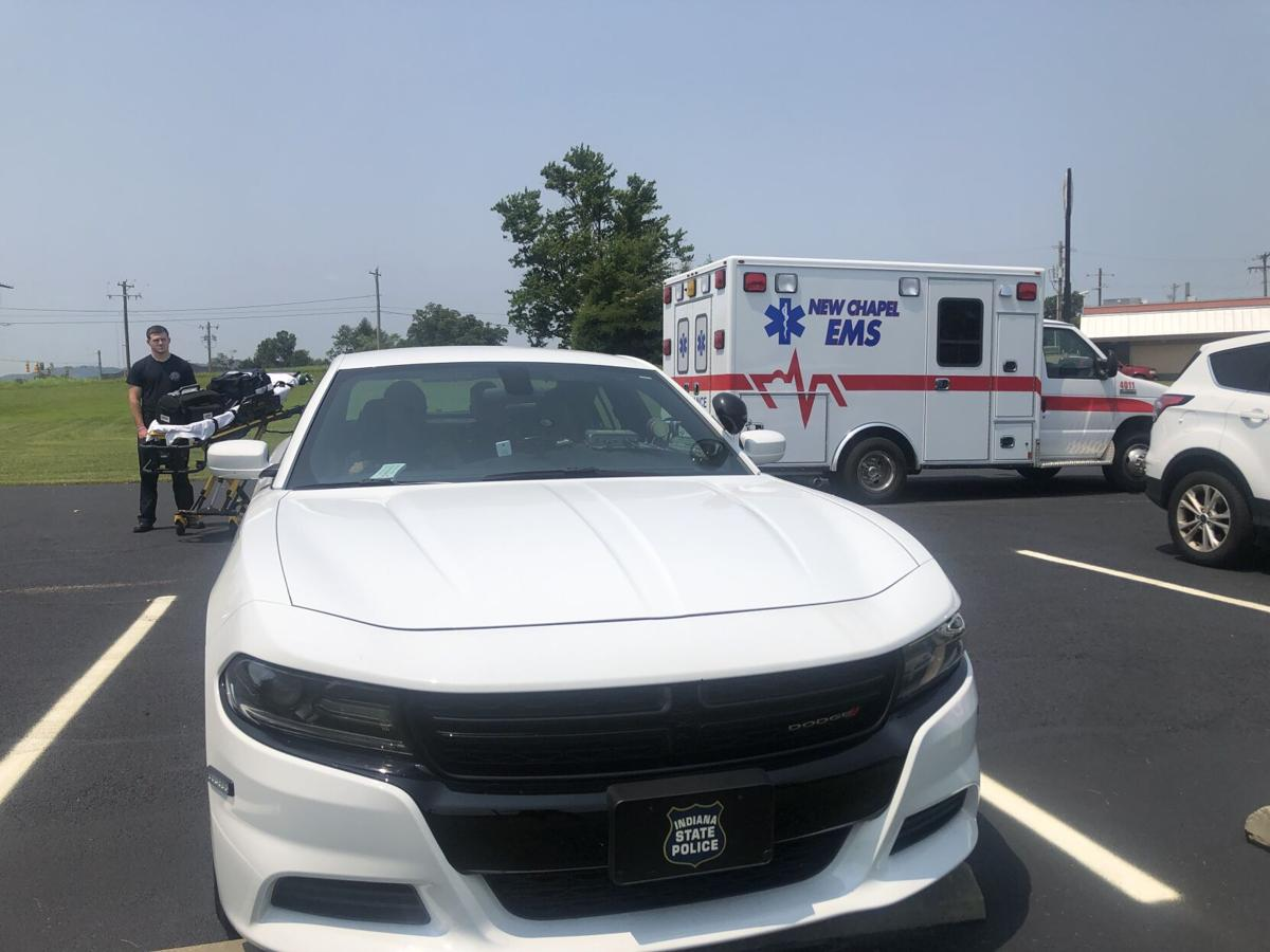 EMS standing by during hot car demonstration