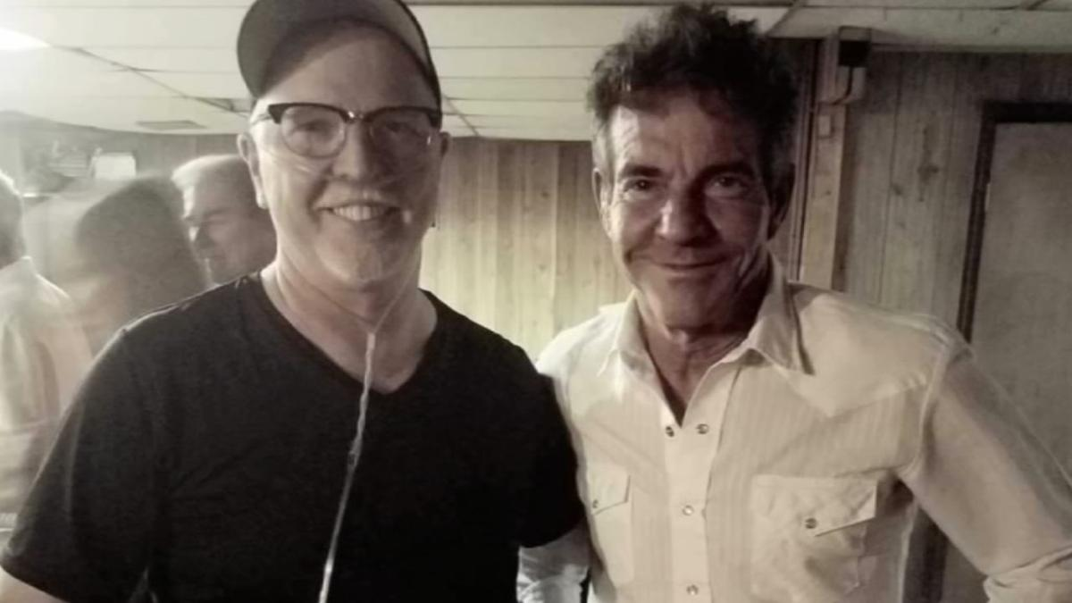 Mike Olsen with actor Dennis Quaid