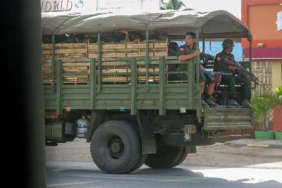 Troops in Eastern Myanmar