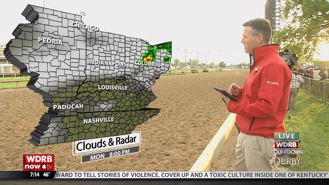 Jude Redfield keeping a close eye on rain chances for Oaks and Derby