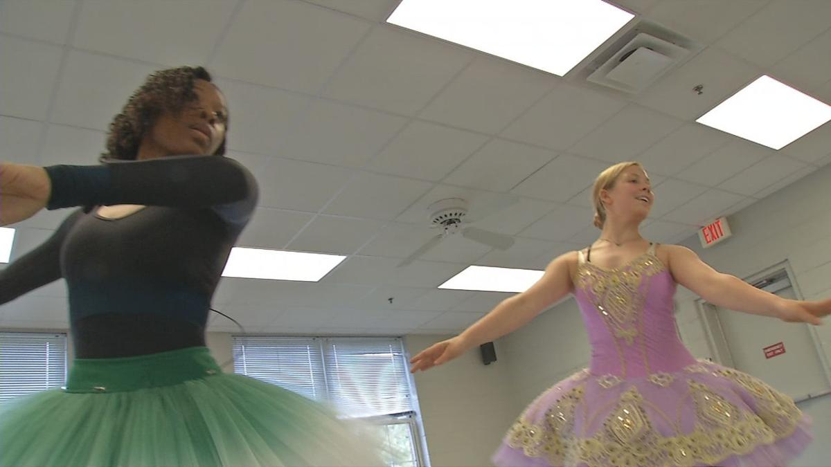 Ballet dancers from the Sacred Heart School for the Arts