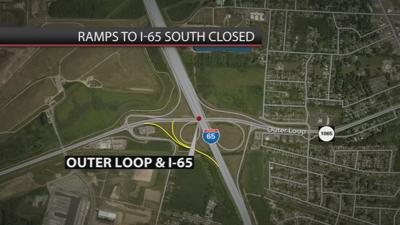 Map of ramp closures