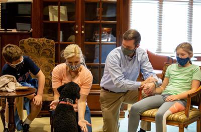 Beshear family receives flu shots.