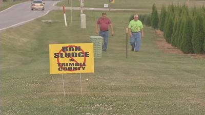 Ban Sludge Sign in Trimble County