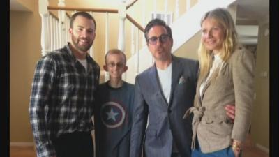 'Avengers' stars visit 18-year-old San Diego man battling cancer
