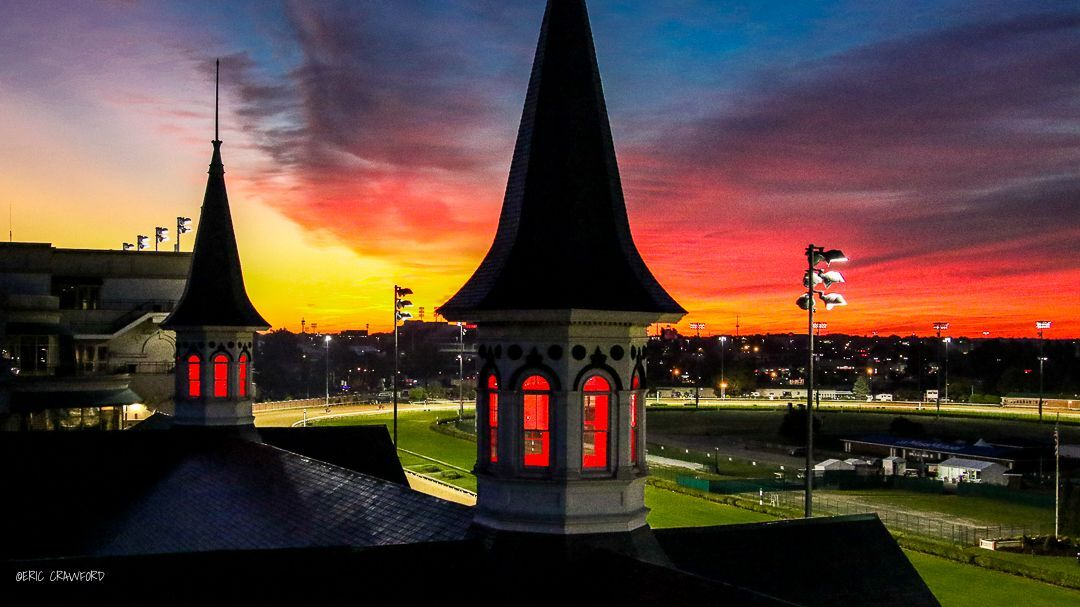 Sunrise at Churchill Downs on Derby day 2020