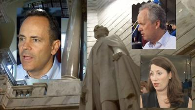 Politicians opine on moving Confederate monuments at Kentucky State Fair kick-off breakfast