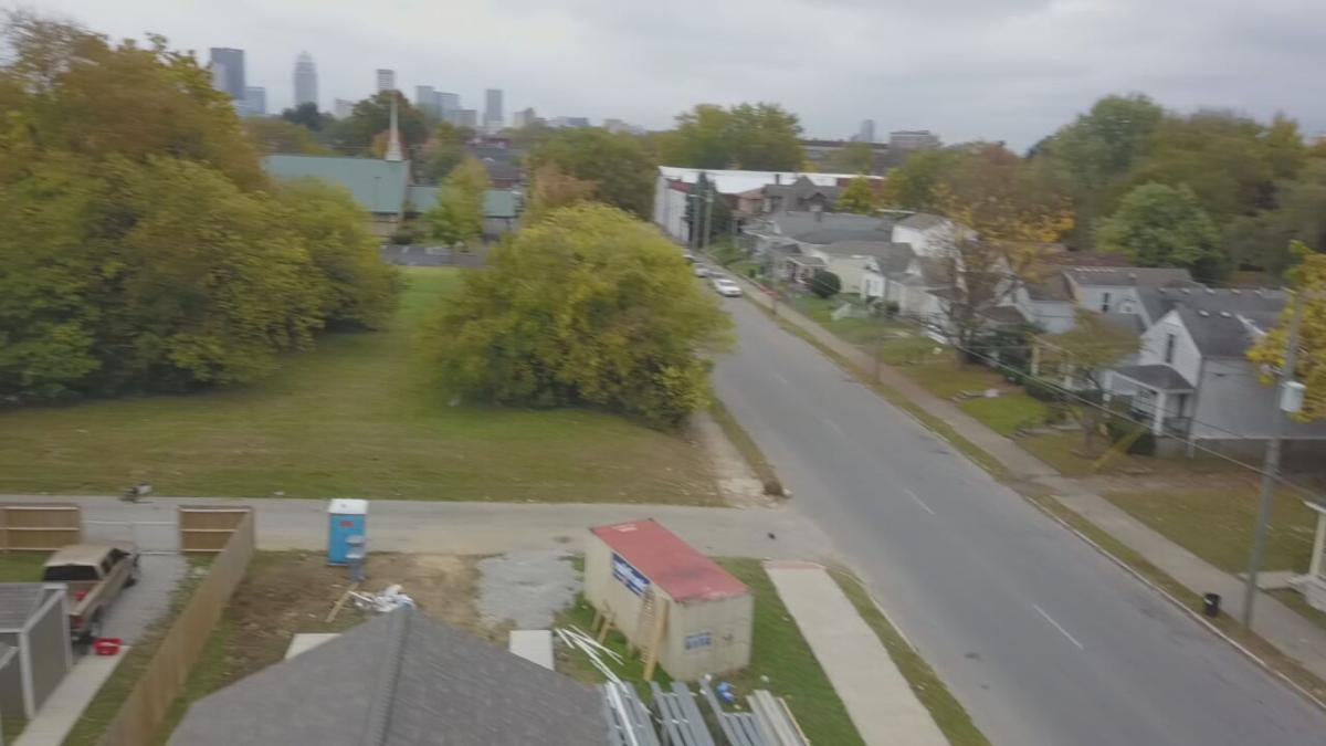 Louisville neighborhood - aerial view