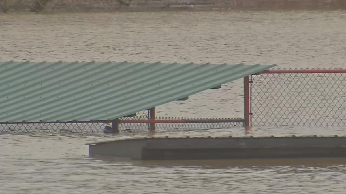 Billy Herman Ballpark New Albany Flooding Again - 2-12-19