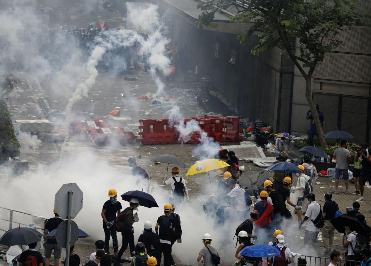 Hong Kong Protests via AP