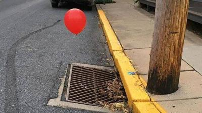 Police in PA 'terrified' by red 'It' balloons tied to sewer grates