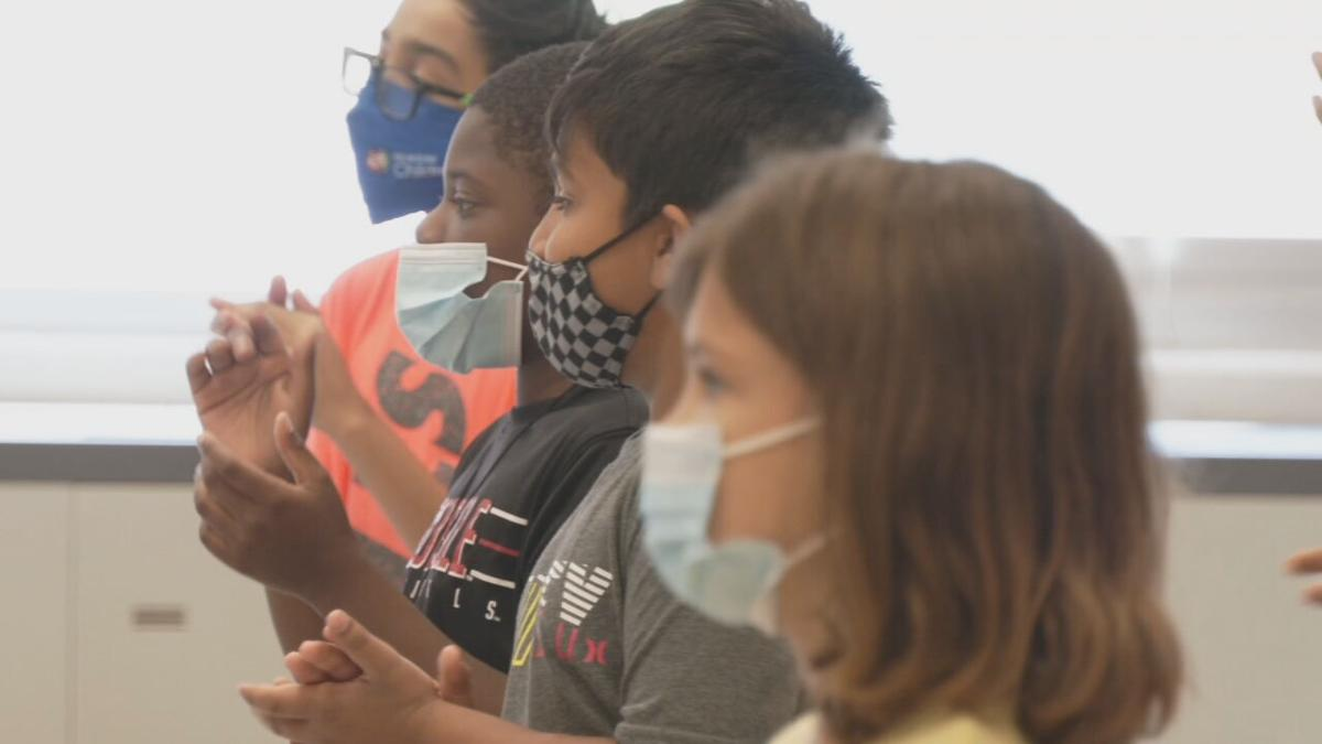 JCPS students wearing masks