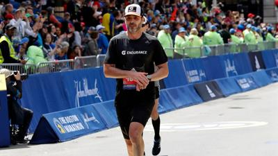 Jimmie Johnson Finishes Marathon via AP - 4-15-19