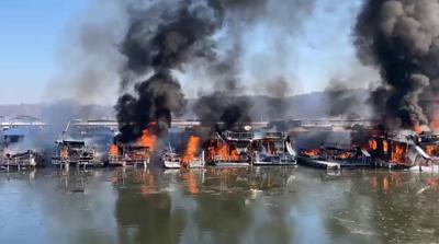 Fire at Hoosier Hills Marina on Patoka Lake - Feb. 19, 2021