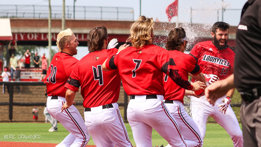 Alex Binelas Louisville baseball celebration