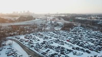 Broken down cars sit beside Louisville roads as impound lot remains full