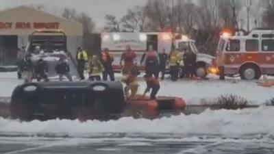 New Year's Eve (2019) accident in northern Indiana pond