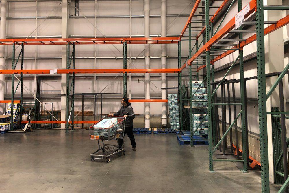 Empty Costco Shelves