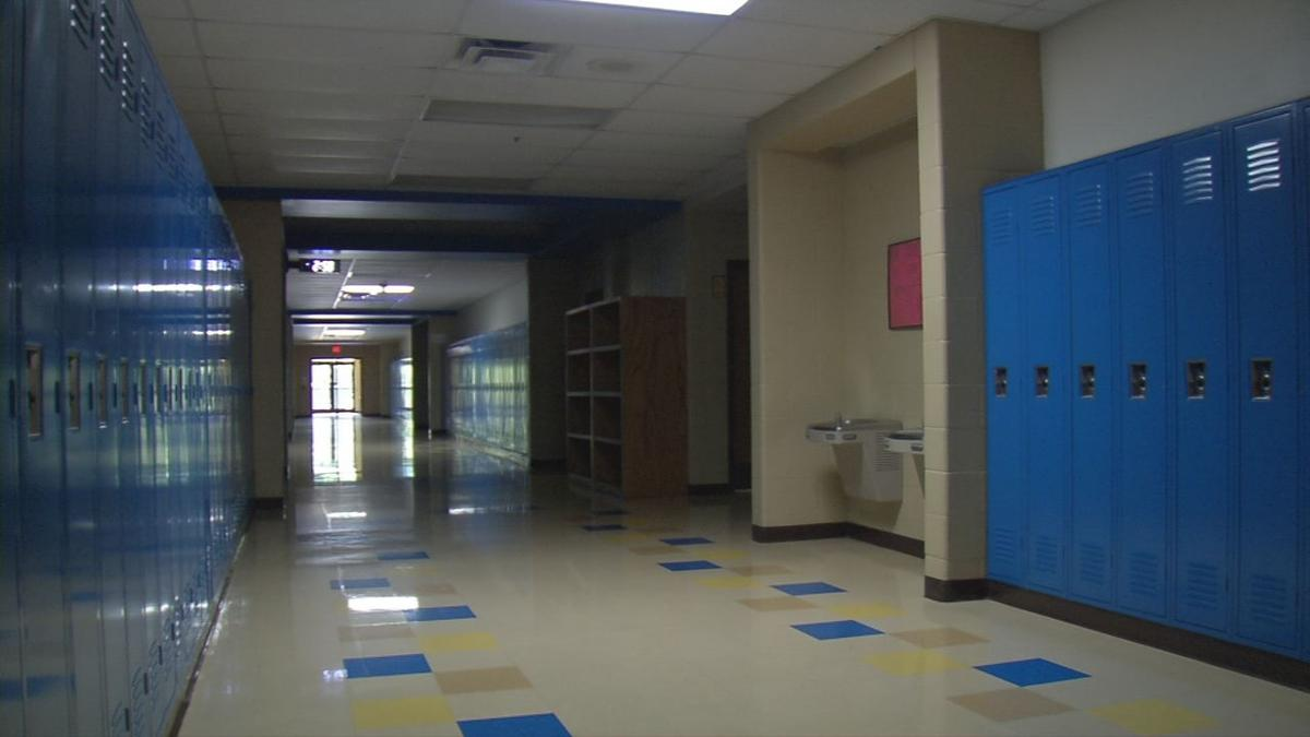Empty Hallway at Christian Academy of Indiana