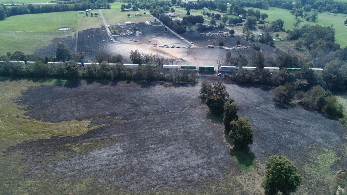 Gas Explosion Lincoln County Aerial - 8-1-19