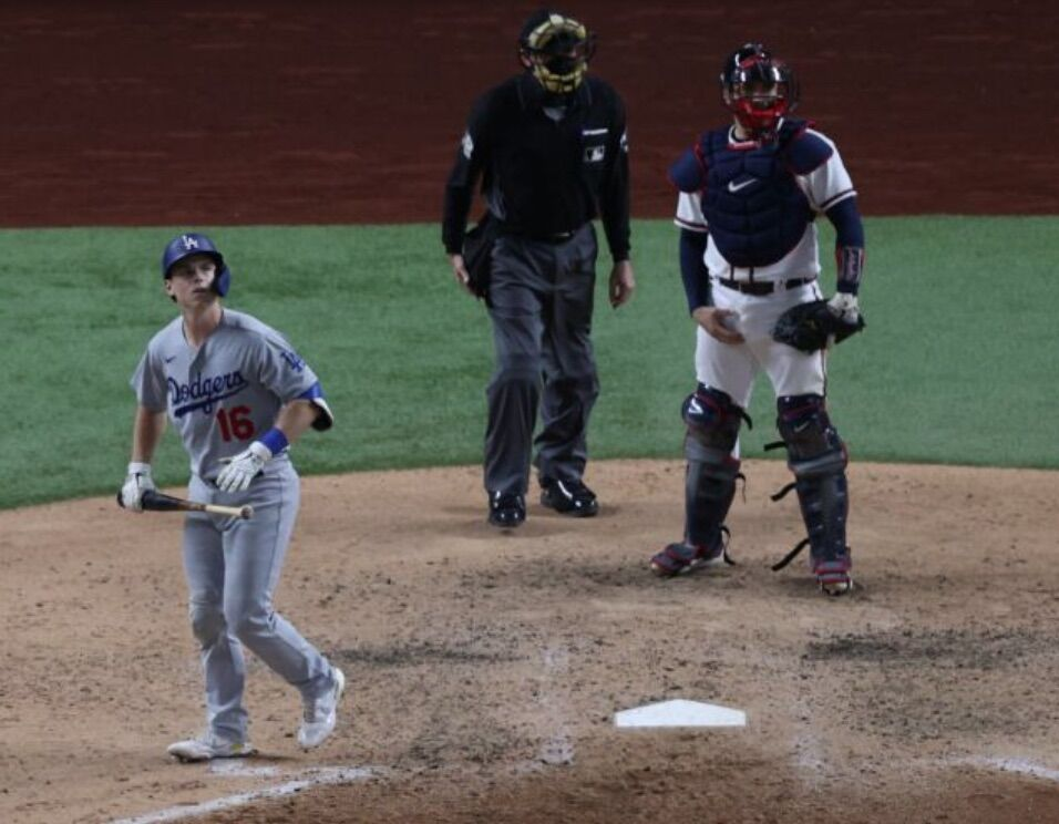 Will Smith hits a home run for the Dodgers in Game 6 of the NLCS
