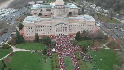 Teachers will make presence felt when Ky. lawmakers return to Frankfort, but how many remains to be seen