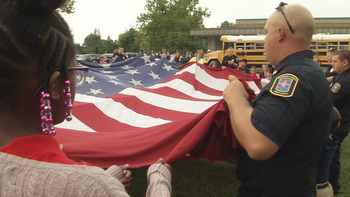 Luhr Elementary School Sept. 11, 2019 flag ceremony (9/11)