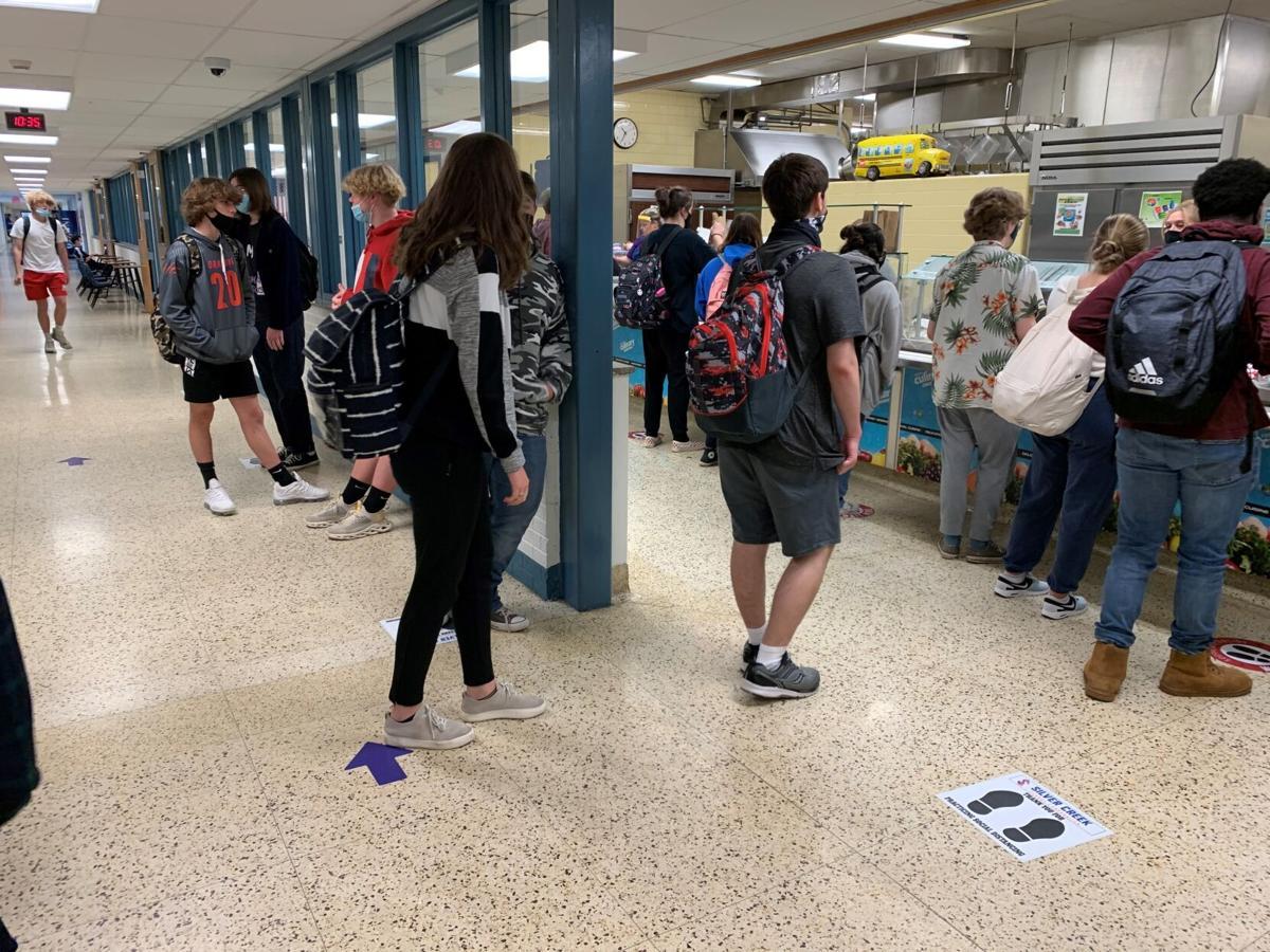 Silver Creek High School lunch line.jpg