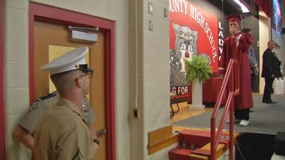 Henry County High School graduate gets emotional surprise from Marine brother