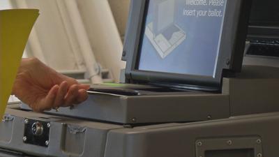 Voting ballot machine