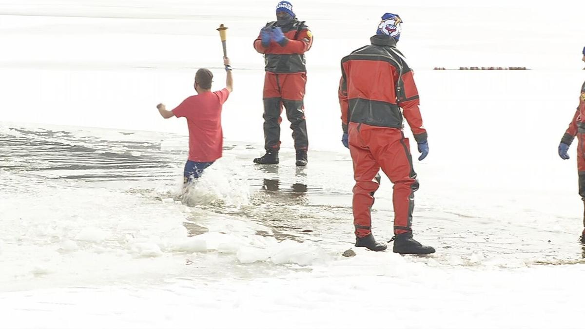 Benefitting Special Olympics of Indiana, the 23rd annual Polar Plunge was held Saturday, Feb. 20, 2021 at Deam Lake in Clark County, Ind.