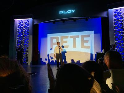 Presidential candidate Pete Buttigieg at Louisville campaign stop on Sept. 17, 2019