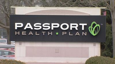 Passport Health Plan monument sign