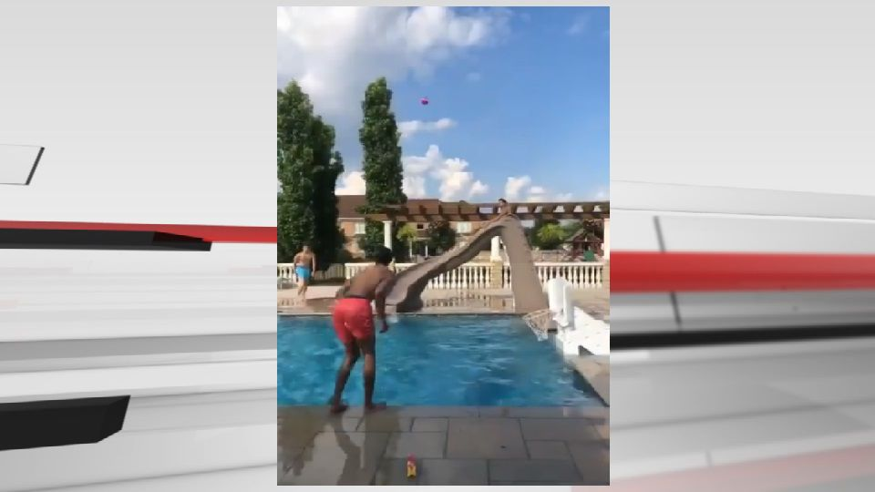 u of l basketball pool trick shot