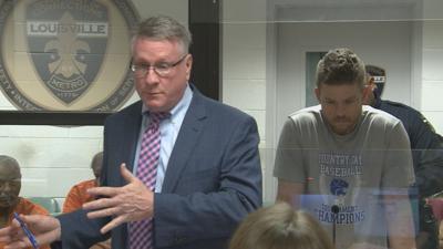 Attorney with Braxton Graven in arraignment court on June 7, 2019.