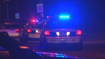 Police lights at night (generic)