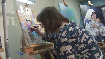 Louisville painter with Down Syndrome gaining following