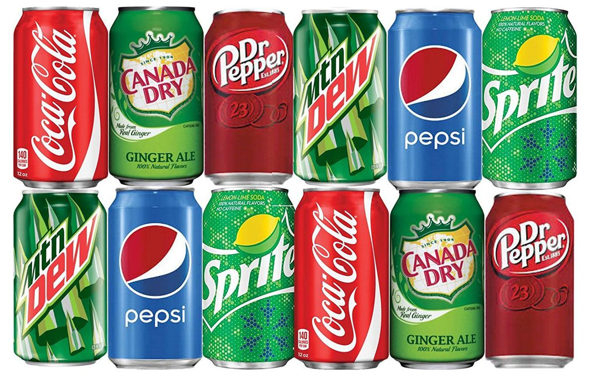 Sodas in cans