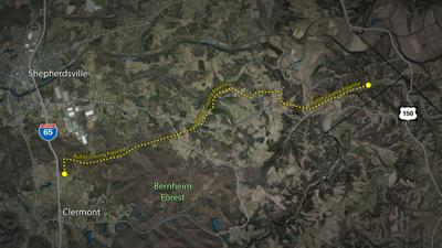 Bullitt Co. pipeline route