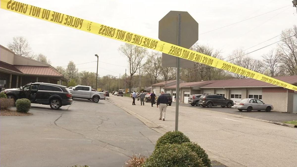 Police investigate a shooting 3/31/21 in Clarksville, Indiana