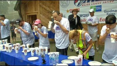 Joey Chestnut wins World Egg-Eating Championship in Radcliff