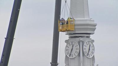 Historic New Albany church gets new steeple after more than a century