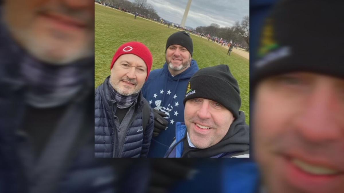 Franklin County Detective Jeff Farmer at US Capitol rally (Jan. 2021)