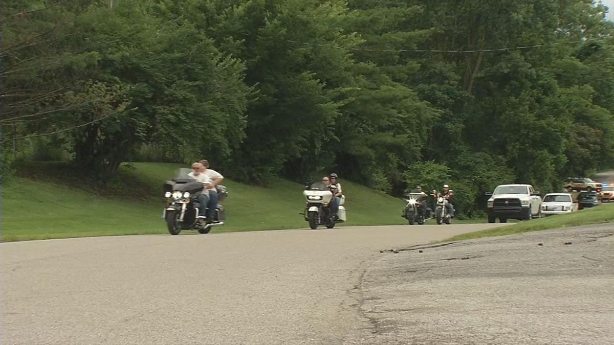 Motorcyclists ride for the Arrow Fund