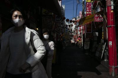 Chinese Women Wearing Masks