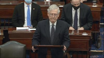 McConnell speaks on Senate floor after Capitol stormed
