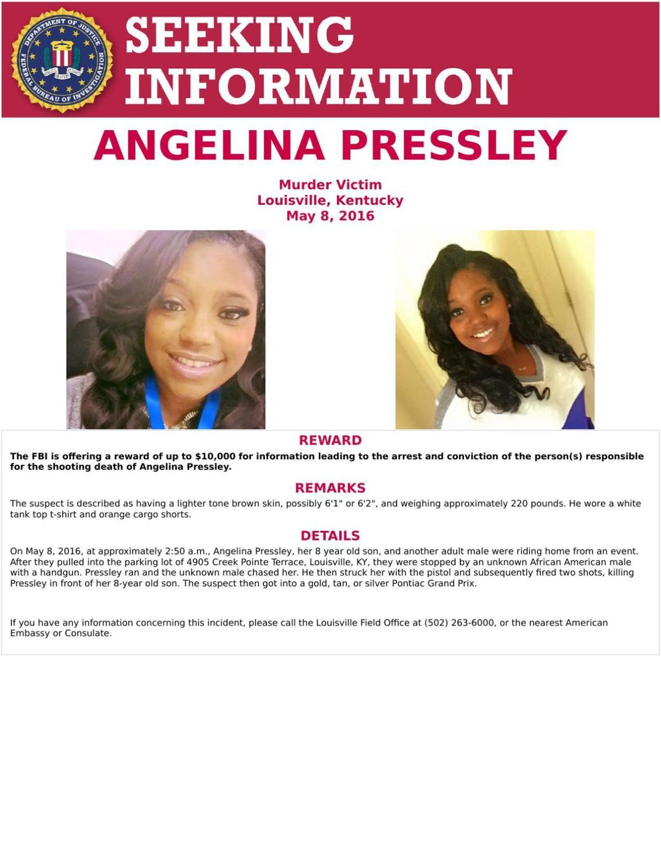 FBI poster on Angelina Pressley