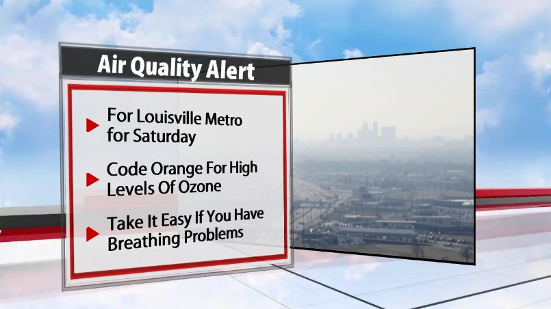 CODE ORANGE: An Air Quality Alert Issued For Saturday