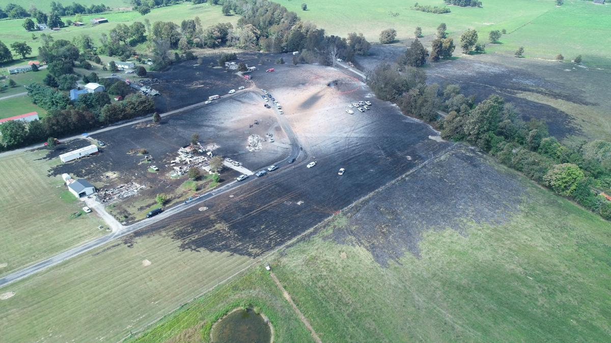Lincoln County Gas Line Explosion Aftermath Aerial - 8-1-19
